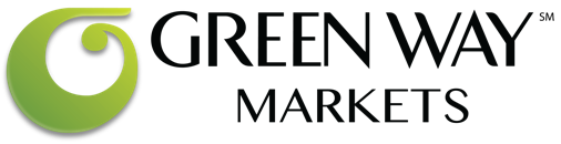 A theme footer logo of Green Way Markets