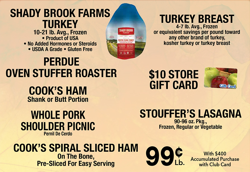 Green Way Markets free turkey promotion