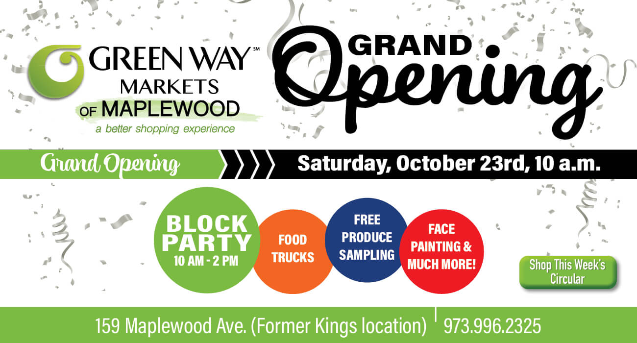Green Way Markets of Maplewood grand opening banner